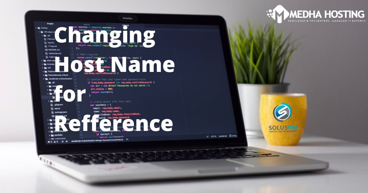 Change Hostname for Reference Purpose in SolusVM