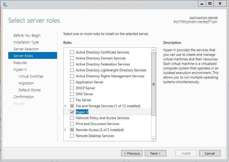 install hyper-v server 2012 r2 on usb