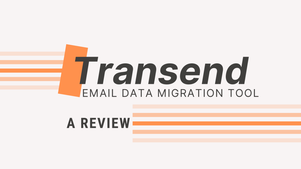 Transend email data migration tool